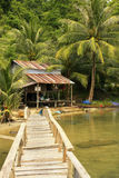Wooden jetty at local village, Ream National Park, Cambodia Royalty Free Stock Photography