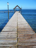 Wooden Jetty in Mauritius Stock Photos