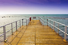 Wooden jetty. Royalty Free Stock Image