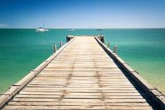 Wooden jetty at Monkey Mia Australia Stock Photo