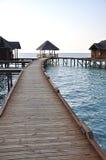 Wooden jetty over sea. A wooden jetty over sea in Maldives Island Stock Images