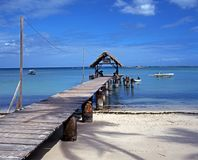 Wooden jetty at Pigeon Point, Tobago. Stock Photography