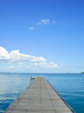 Wooden jetty Royalty Free Stock Images