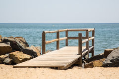 Wooden jetty at the seaside Royalty Free Stock Photography