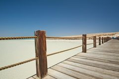 Wooden jetty on a tropical island Stock Image