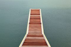 Wooden jetty walkway Royalty Free Stock Image