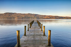 Wooden jetty on Windermere Stock Photos