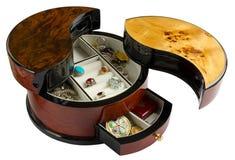Wooden Jewel Box Stock Image