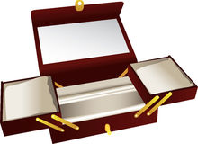 Wooden jewelry box  Stock Photo