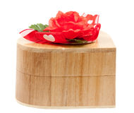 Wooden jewelry box Royalty Free Stock Photo