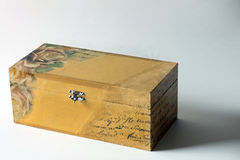 Wooden jewelry box Stock Images