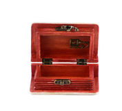 Wooden jewelry box. Stock Photography
