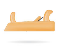 Wooden jointer plane. Vector illustration  on white Royalty Free Stock Photos