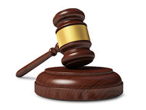 Wooden judge gavel isolated Royalty Free Stock Image