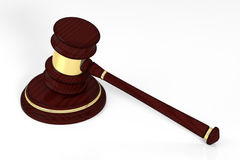 Wooden judge gavel and soundboard Royalty Free Stock Photos