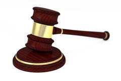 Wooden judge gavel and soundboard Stock Images