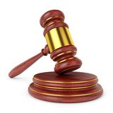 Wooden judge gavel Royalty Free Stock Photos