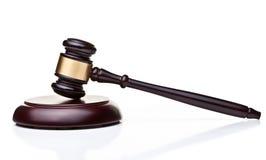 Wooden judge gavel. On white background Royalty Free Stock Photo