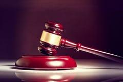 Wooden judge gavel. On white background Royalty Free Stock Photos