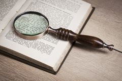 Wooden judge`s gavel. Law. Legal office. Stock Photo