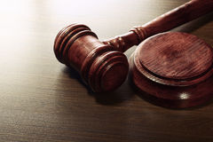 Wooden Judges Gavel Royalty Free Stock Photography