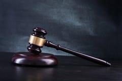 Wooden Judges gavel Stock Images
