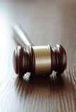 Wooden judges gavel Stock Photography