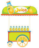A wooden juice cart Royalty Free Stock Image