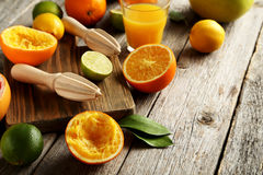 Wooden juicer Stock Photography