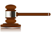 Wooden Justice Gavel Stock Photo