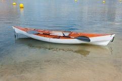 Wooden kayak Royalty Free Stock Image