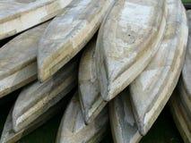 Wooden kayaks. Royalty Free Stock Photos