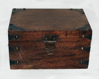 Wooden Keepsake Box Stock Images