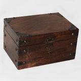 Wooden Keepsake Box Stock Photos