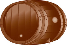 Wooden Keg Stock Photography