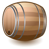 Wooden Keg Vector Illustration Stock Image