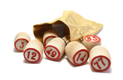 Wooden Kegs For Bingo Stock Images