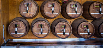Wooden kegs with spout Royalty Free Stock Photography