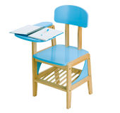 Wooden kid class room chair royalty free stock photos