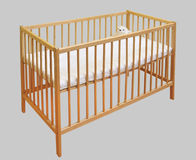 Wooden kids bed Royalty Free Stock Photography