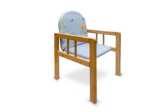 Wooden kids chair isolated Royalty Free Stock Photo