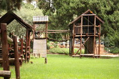 Wooden Kids Playground Stock Image