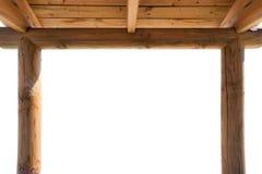 Wooden Kiosk Frame Stock Images