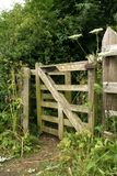 Wooden Kissing gate. Old wooden kissing gate always brings a smile to everyones face, jsut the thought of it Stock Photo