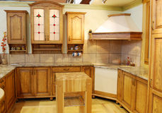 Wooden kitchen Royalty Free Stock Photo