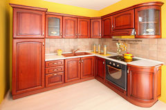 Wooden kitchen Royalty Free Stock Photos