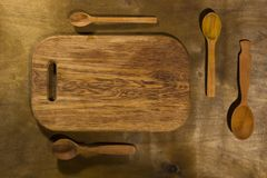 Wooden Kitchen Accessories Stock Photos