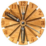 Wooden Kitchen Clock Royalty Free Stock Image