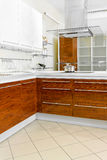 Wooden kitchen counter Royalty Free Stock Image