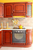 Wooden kitchen detail Stock Images
